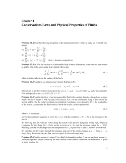 Conservations Laws and Physical Properties of Fluids Chapter 4