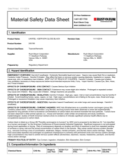 Material Safety Data Sheet 1. Identification