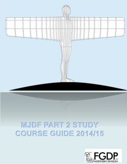 MJDF PART 2 STUDY COURSE GUIDE 2014/15