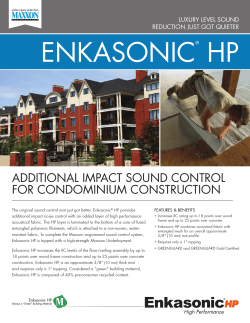 enKASonic Hp AdditionAL impAct Sound controL for condominium conStruction