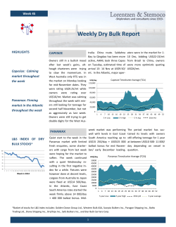 Weekly Dry Bulk Report May 30th     2014