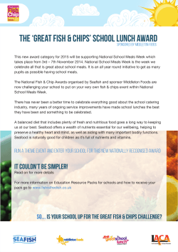 The 'GReat Fish & Chips' School Lunch Award