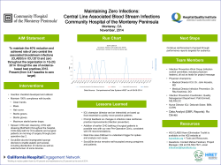 Maintaining Zero Infections: Central Line Associated Blood Stream Infections