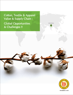 Cotton, Textile & Apparel Value & Supply Chain : Global Opportunities