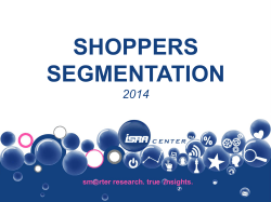 SHOPPERS SEGMENTATION 2014