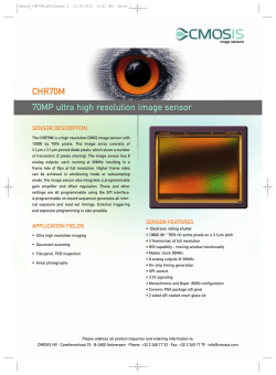 CHR70M 70MP ultra high resolution image sensor SENSOR DESCRIPTION