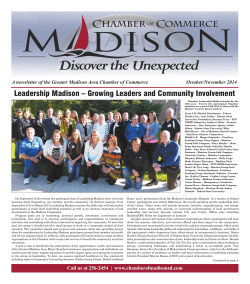 Leadership Madison – Growing Leaders and Community Involvement October/November 2014