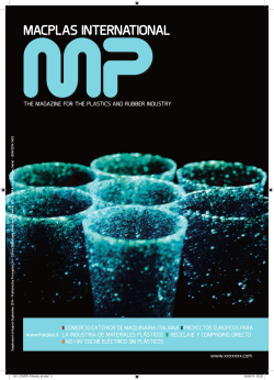 MACPLAS INTERNATIONAL THE MAGAZINE FOR THE PLASTICS AND RUBBER INDUSTRY