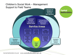 Children's Social Work – Management Support to Field Teams Assistant Director