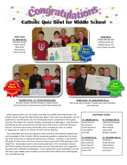 Catholic Quiz Bowl for Middle School