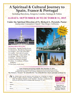 A Spiritual & Cultural Journey to Spain, France & Portugal