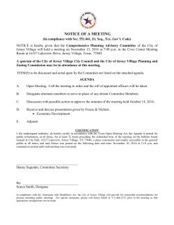 NOTICE OF A MEETING