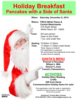 Holiday Breakfast Pancakes with a Side of Santa