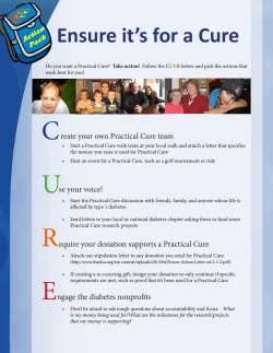 C Ensure it's for a Cure reate your own Practical Cure team
