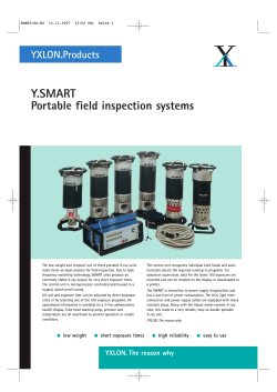 Y.SMART Portable field inspection systems YXLON.Products