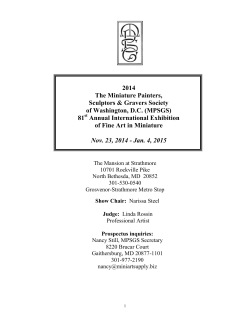 2014 The Miniature Painters, Sculptors & Gravers Society