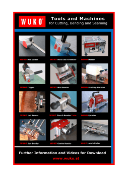 Tools and Machines  for Cutting, Bending and Seaming