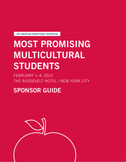 most promising multicultural students sponsor guide