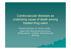 Cardiovascular diseases as underlying cause of death among treated drug users