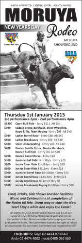 MORUYA Thursday 1st January 2015 NEW YEARS DAY