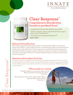 Clear Response Comprehensive detoxification formula in powdered form ™