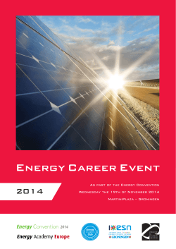2014 As part of the Energy Convention MartiniPlaza – Groningen