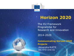 Horizon 2020  The EU Framework Programme for