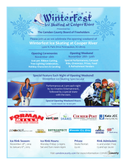 Winterfest Ice Skating at Cooper River November 28th -30th November 28th