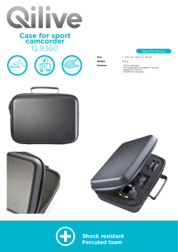 Q.9360 Case for sport camcorder Specifications
