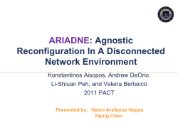 ARIADNE : Agnostic Reconfiguration In A Disconnected Network Environment
