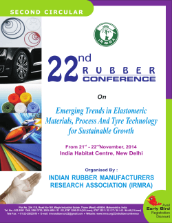 22nd Nov 14 - Indian Rubber Manufacturers Research Association