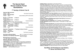 Bulletin in PDF - The Sacred Heart Catholic Church in Northallerton