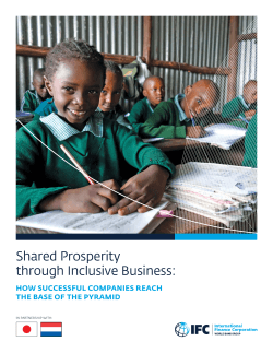 Shared Prosperity through Inclusive Business: How Successful