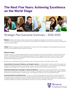 The Next Five Years: Achieving Excellence on the World Stage