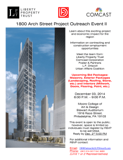 1800 Arch Street Project Outreach Event II