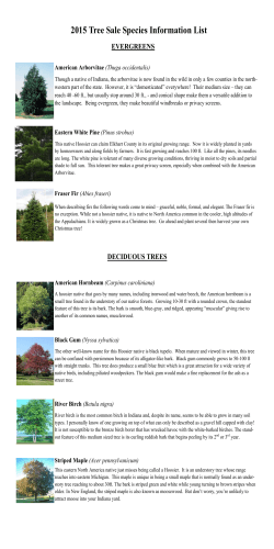 2015 Tree Species Information - Elkhart County Soil and Water District