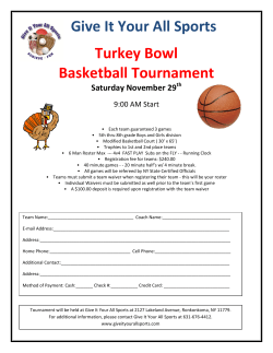 Give It Your All Sports Turkey Bowl Basketball Tournament