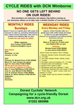 CYCLE RIDES with DCN Wimborne