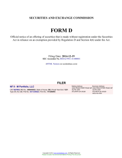 NF II - M Portfolio, LLC Form D Filed 2014-12-19