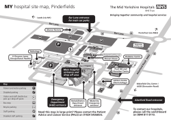 MY hospital site map, Pinderfields - Mid Yorkshire Hospitals NHS Trust