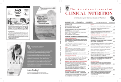 Front Matter  - American Journal of Clinical Nutrition