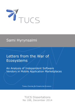 Letters from the War of Ecosystems