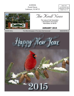 The Knoll News - Senior Publishing