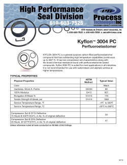 Kyflon™ 3004 PC Perfluoroelastomer