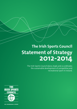 Statement of Strategy - The Irish Sports Council