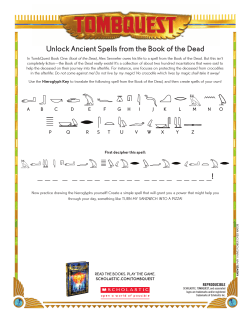 TombQuest Fast Fact Worksheet: Book of the Dead