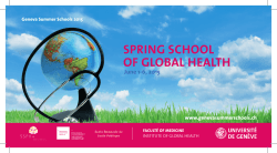 SPRING SCHOOL OF GLOBAL HEALTH