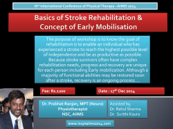 Basics of Stroke Rehabilitation & Concept of Early - incpt-2014