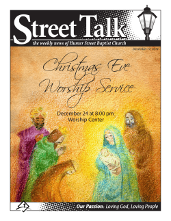 Christmas Eve Worship Service - Hunter Street Baptist Church