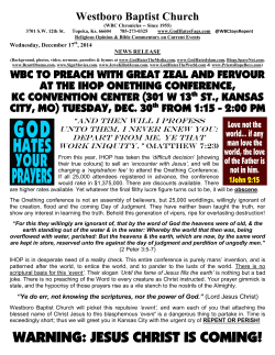 WBC to picket IHOP Onething 2014, KC Convention Center, KCMO